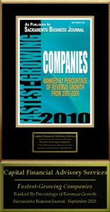 Keith Springer awarded Sac Biz Journal Fastest Growing Company