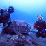 Keith Springer and underwater treasure