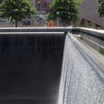 Water pools in memorial