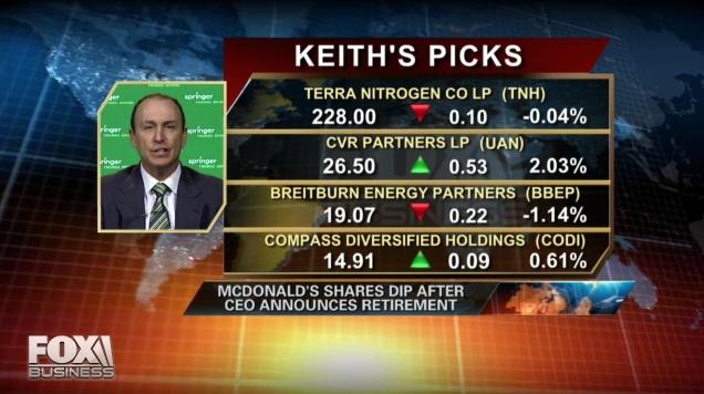 Keith Springer Stock Market Picks Live on Fox Business
