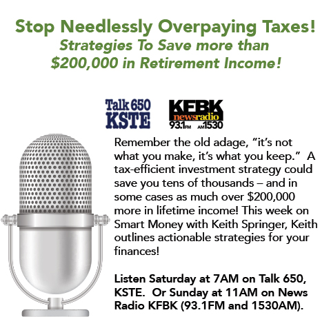 Keith Springer on Stop Needlessly Overpaying Taxes!